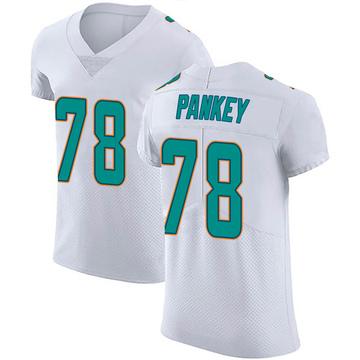Men's Nike Miami Dolphins Adam Pankey White Vapor Untouchable Jersey - Elite