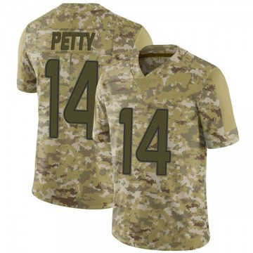 Men's Nike Miami Dolphins Bryce Petty Camo 2018 Salute to Service Jersey - Limited