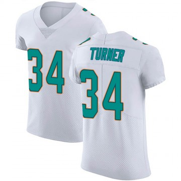 Men's Nike Miami Dolphins De'Lance Turner White Vapor Untouchable Jersey - Elite