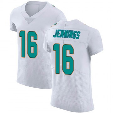 Men's Nike Miami Dolphins Gary Jennings Jr. White Vapor Untouchable Jersey - Elite