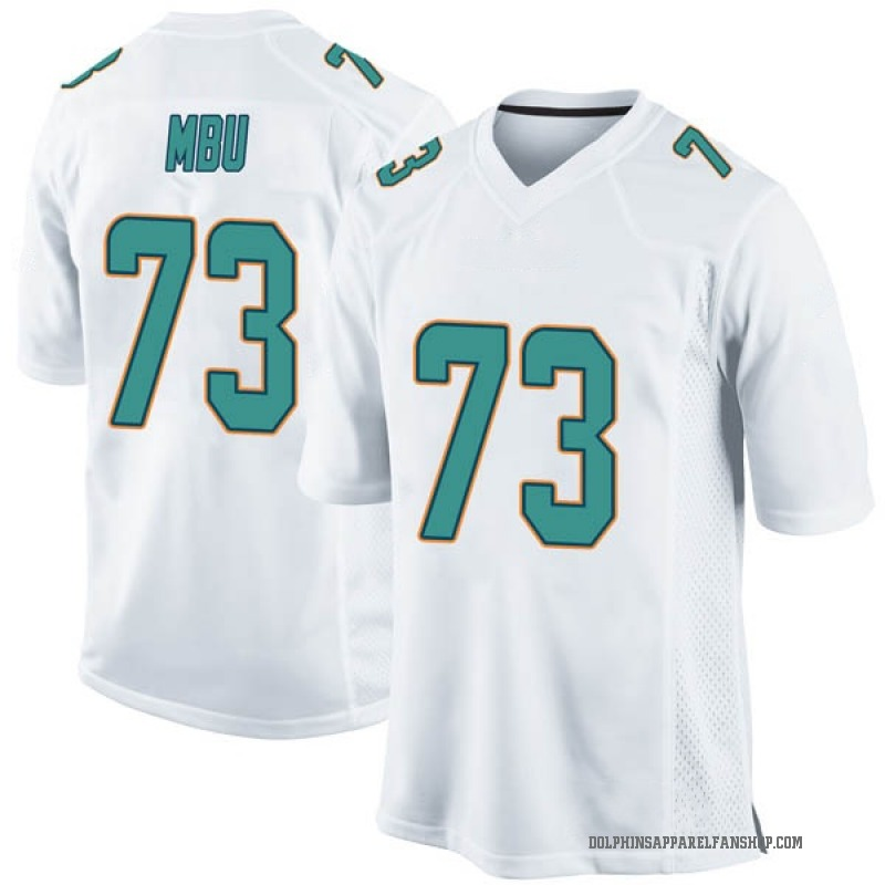 huge selection of 23f29 5211a Men's Nike Miami Dolphins Joey Mbu White Jersey - Game