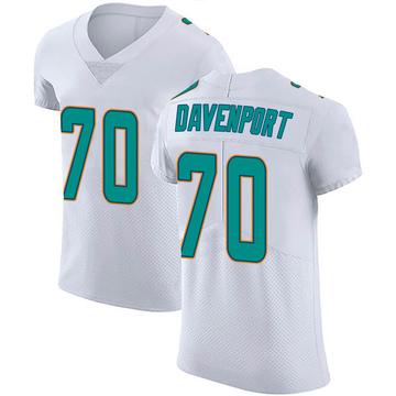 Men's Nike Miami Dolphins Julie'n Davenport White Vapor Untouchable Jersey - Elite