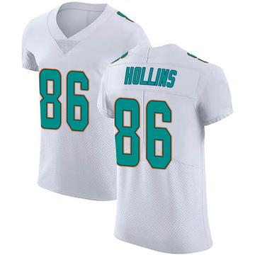 Men's Nike Miami Dolphins Mack Hollins White Vapor Untouchable Jersey - Elite