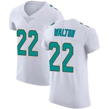 Men's Nike Miami Dolphins Mark Walton White Vapor Untouchable Jersey - Elite