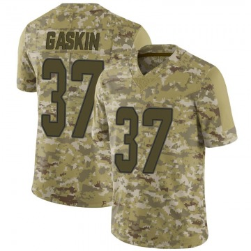 Men's Miami Dolphins Myles Gaskin Camo 2018 Salute to Service Jersey - Limited