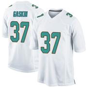 Men's Nike Miami Dolphins Myles Gaskin White Jersey - Game