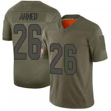Men's Nike Miami Dolphins Salvon Ahmed Camo 2019 Salute to Service Jersey - Limited