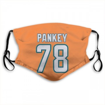 Miami Dolphins Adam Pankey Orange Jersey Name & Number Face Mask