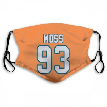 Miami Dolphins Avery Moss Orange Jersey Name & Number Face Mask
