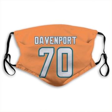 Miami Dolphins Julie'n Davenport Orange Jersey Name & Number Face Mask