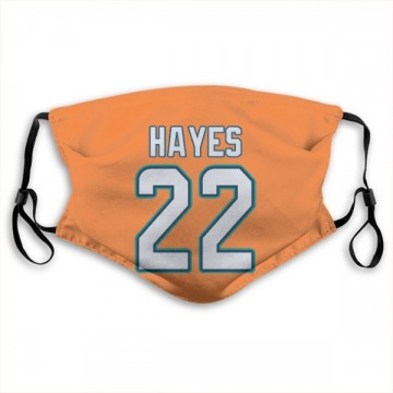Miami Dolphins Tae Hayes Orange Jersey Name & Number Face Mask