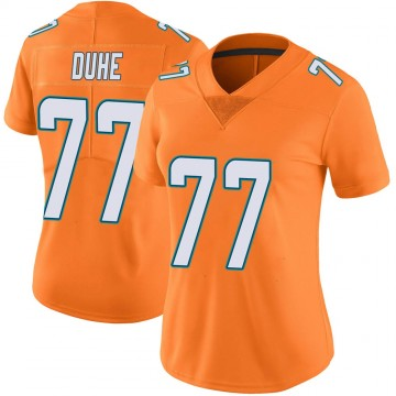 Women's Nike Miami Dolphins Adam Joseph Duhe Orange Color Rush Jersey - Limited