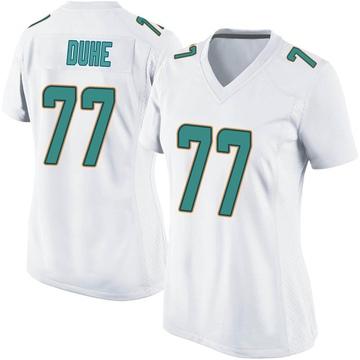 Women's Nike Miami Dolphins Adam Joseph Duhe White Jersey - Game
