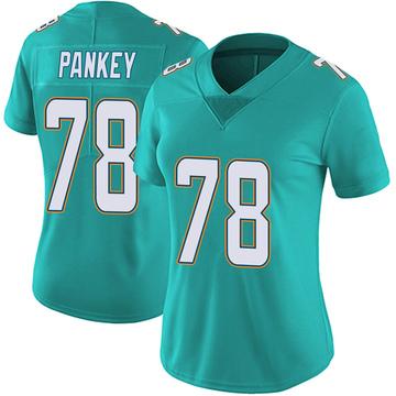 Women's Nike Miami Dolphins Adam Pankey Aqua Team Color Vapor Untouchable Jersey - Limited