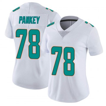 Women's Nike Miami Dolphins Adam Pankey White limited Vapor Untouchable Jersey -