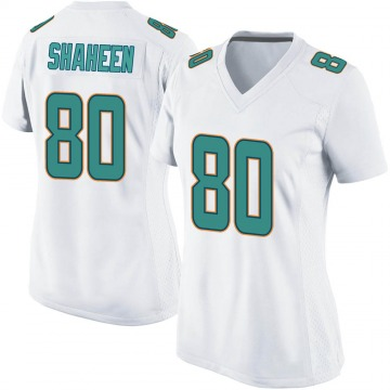 Women's Nike Miami Dolphins Adam Shaheen White Jersey - Game
