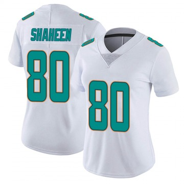 Women's Nike Miami Dolphins Adam Shaheen White limited Vapor Untouchable Jersey -