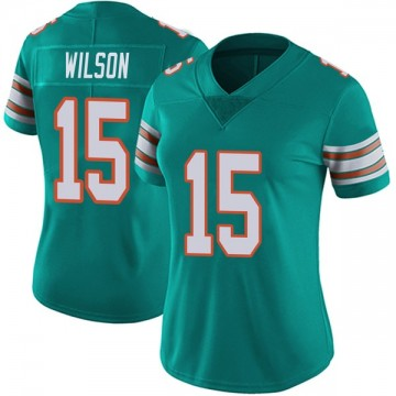 Women's Nike Miami Dolphins Albert Wilson Aqua Alternate Vapor Untouchable Jersey - Limited