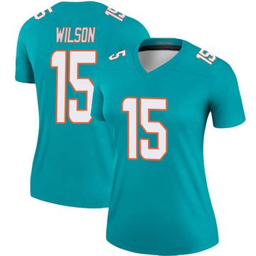 Women's Nike Miami Dolphins Albert Wilson Aqua Jersey - Legend