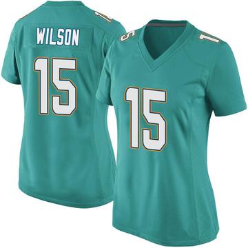 Women's Nike Miami Dolphins Albert Wilson Aqua Team Color Jersey - Game