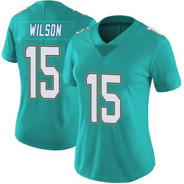 Women's Nike Miami Dolphins Albert Wilson Aqua Team Color Vapor Untouchable Jersey - Limited