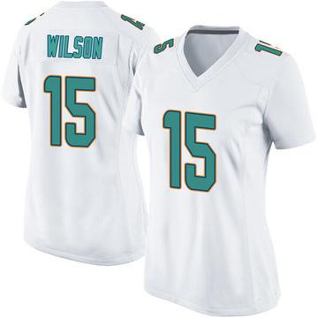Women's Nike Miami Dolphins Albert Wilson White Jersey - Game