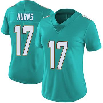 Women's Nike Miami Dolphins Allen Hurns Aqua Team Color Vapor Untouchable Jersey - Limited