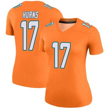 Women's Nike Miami Dolphins Allen Hurns Orange Color Rush Jersey - Legend