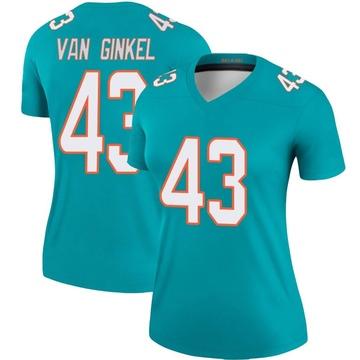 Women's Nike Miami Dolphins Andrew Van Ginkel Aqua Jersey - Legend