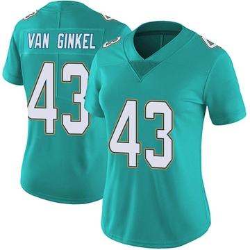Women's Nike Miami Dolphins Andrew Van Ginkel Aqua Team Color Vapor Untouchable Jersey - Limited