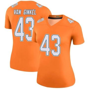 Women's Nike Miami Dolphins Andrew Van Ginkel Orange Color Rush Jersey - Legend