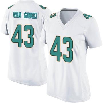 Women's Nike Miami Dolphins Andrew Van Ginkel White Jersey - Game