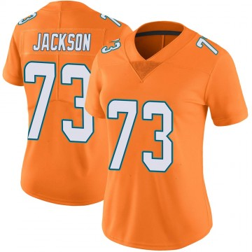 Women's Nike Miami Dolphins Austin Jackson Orange Color Rush Jersey - Limited