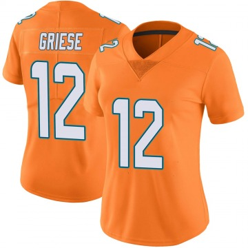 Women's Nike Miami Dolphins Bob Griese Orange Color Rush Jersey - Limited