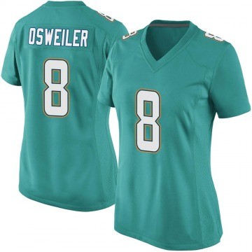 Women's Nike Miami Dolphins Brock Osweiler Aqua Team Color Jersey - Game