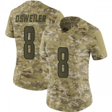 Women's Nike Miami Dolphins Brock Osweiler Camo 2018 Salute to Service Jersey - Limited