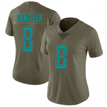 Women's Nike Miami Dolphins Brock Osweiler Green 2017 Salute to Service Jersey - Limited