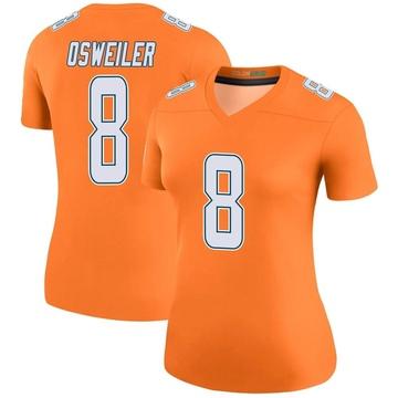 Women's Nike Miami Dolphins Brock Osweiler Orange Color Rush Jersey - Legend