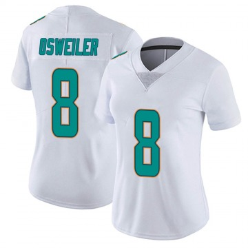 Women's Nike Miami Dolphins Brock Osweiler White limited Vapor Untouchable Jersey -
