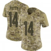Women's Nike Miami Dolphins Bryce Petty Camo 2018 Salute to Service Jersey - Limited