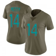 Women's Nike Miami Dolphins Bryce Petty Green 2017 Salute to Service Jersey - Limited