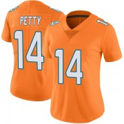 Women's Nike Miami Dolphins Bryce Petty Orange Color Rush Jersey - Limited