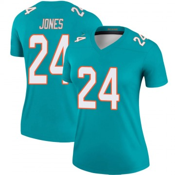 Women's Nike Miami Dolphins Byron Jones Aqua Jersey - Legend