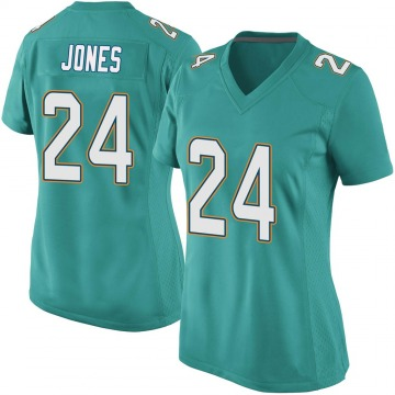 Women's Nike Miami Dolphins Byron Jones Aqua Team Color Jersey - Game