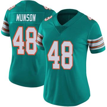 Women's Nike Miami Dolphins Calvin Munson Aqua Alternate Vapor Untouchable Jersey - Limited