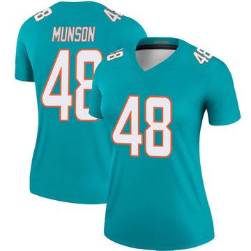 Women's Nike Miami Dolphins Calvin Munson Aqua Jersey - Legend