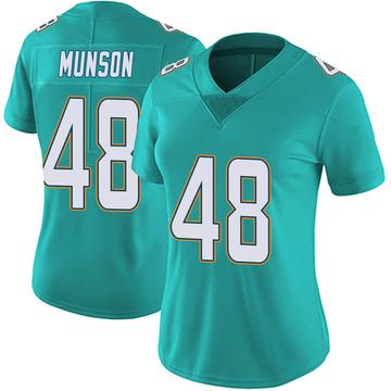 Women's Nike Miami Dolphins Calvin Munson Aqua Team Color Vapor Untouchable Jersey - Limited