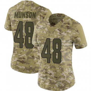 Women's Nike Miami Dolphins Calvin Munson Camo 2018 Salute to Service Jersey - Limited