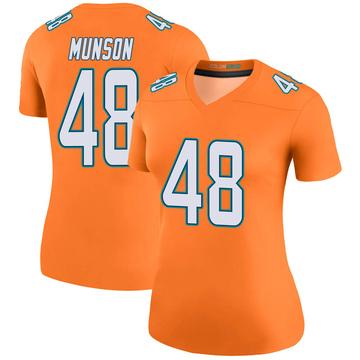 Women's Nike Miami Dolphins Calvin Munson Orange Color Rush Jersey - Legend