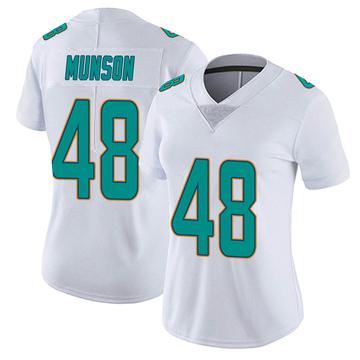 Women's Nike Miami Dolphins Calvin Munson White limited Vapor Untouchable Jersey -